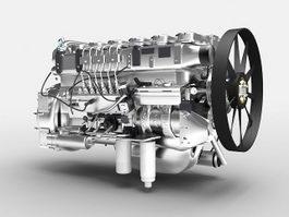 EGR Diesel Engine 3d preview