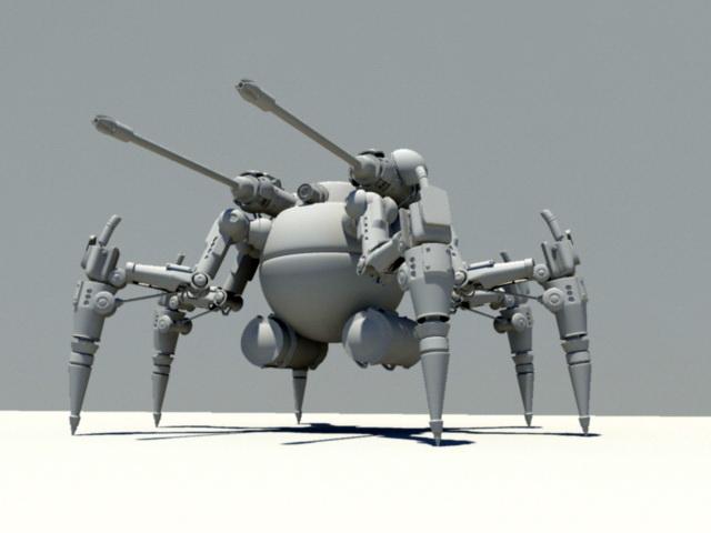 Spider Mech 3d rendering