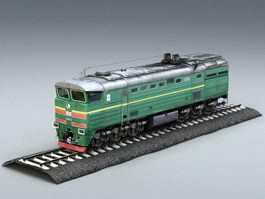 Diesel Locomotive Engine 3d preview