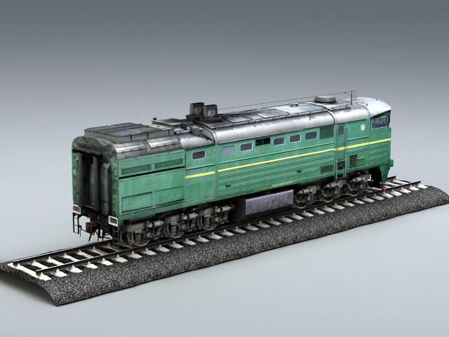 Diesel Locomotive Engine 3d rendering