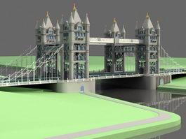 Tower Bridge 3d preview