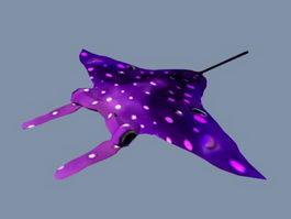 Purple Bat Ray 3d preview