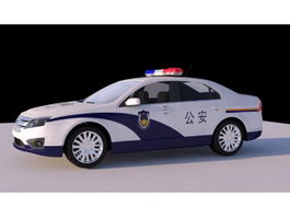 Chinese Police Car 3d preview