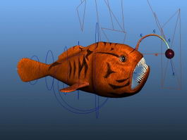 Red Angler Fish Rig 3d preview