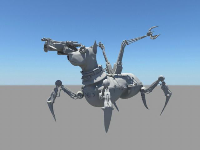 Military Robot Dog 3d rendering
