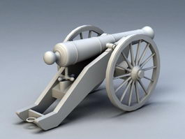Pirate Ship Cannon 3d preview