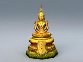 Ancient Thai Buddha Statue 3d preview
