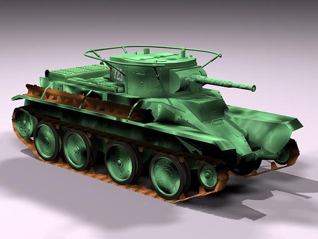 Russian BT-5 Cavalry Tank 3d rendering