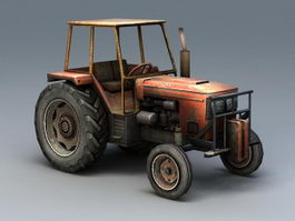 Old Farm Tractor 3d preview
