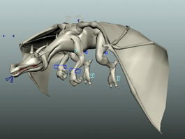 Rig Dragon Animation 3d model preview