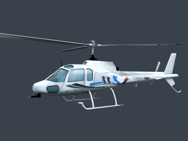 Private Helicopter 3d rendering