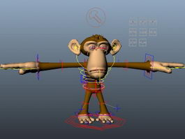 Monkey Rig 3d preview
