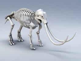 Mammoth Skeleton 3d preview