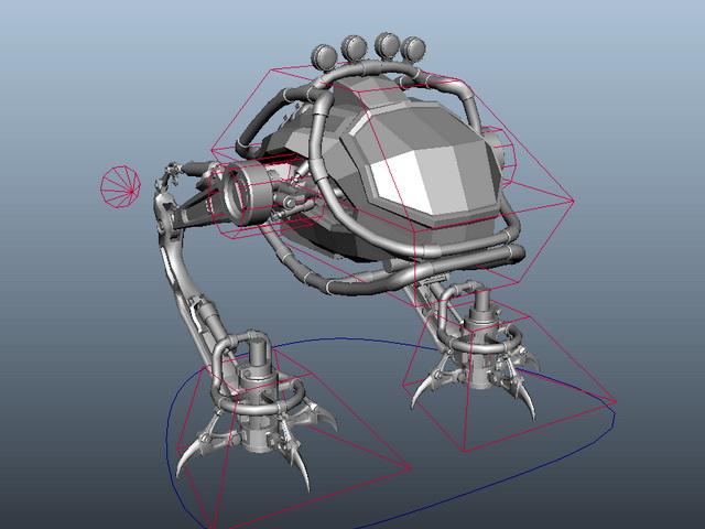 Mech Walker Rig 3d rendering