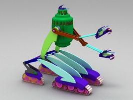 Vintage Robot 3d model preview