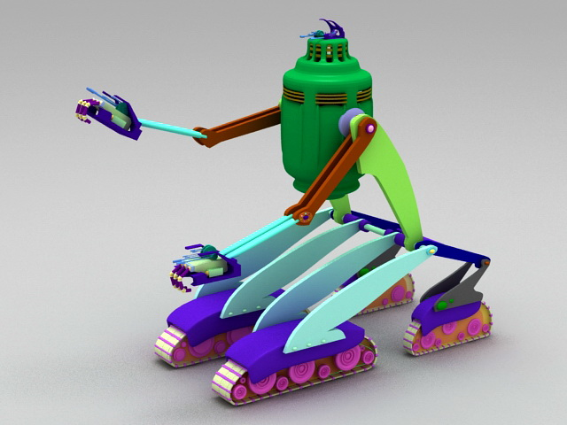 Vintage Robot 3d rendering