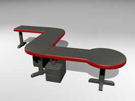 Office Desks Workstations 3d preview