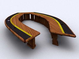 Unique Conference Table 3d preview