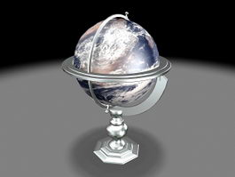 Planet Earth Globe 3d preview