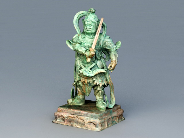Antique Warlord Statue 3d rendering
