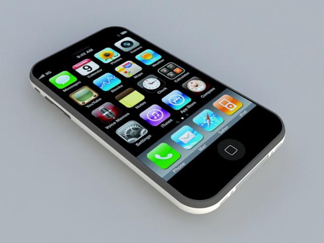 iPhone 3GS Smartphone 3d rendering