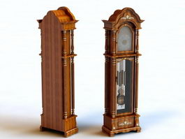 Vintage Floor Clock 3d preview