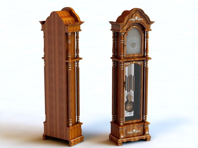 Vintage Floor Clock 3d rendering