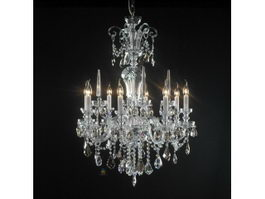 Vintage Crystal Chandelier 3d preview
