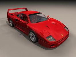 Ferrari F40 3d preview