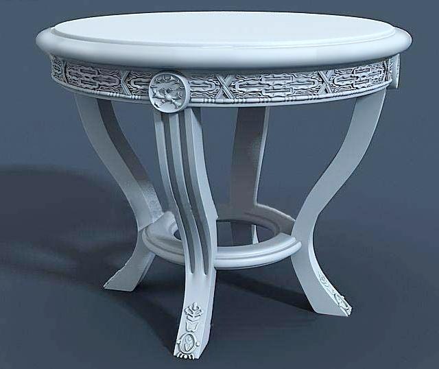 Victorian Tea Table 3d rendering