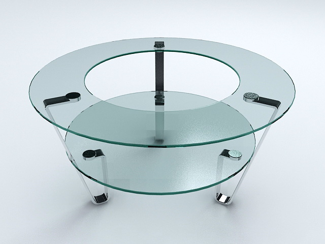 Unique Glass Coffee Table 3d rendering