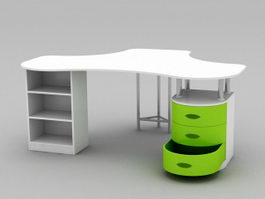 Office Desk Workstation 3d preview