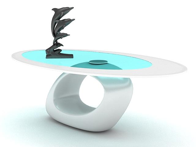 Unique Coffee Table 3d rendering