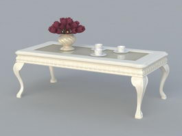 French Style Coffee Table 3d preview