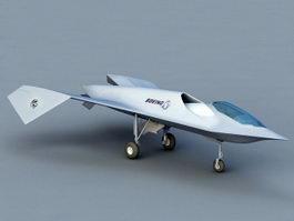 Boeing Bird of Prey 3d model preview