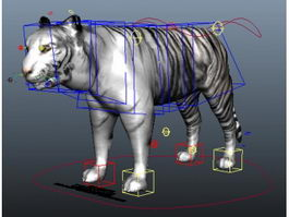 White Tiger Rig 3d model preview