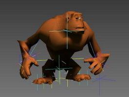 Animated Orangutan Rig 3d model preview