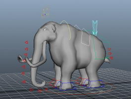 Mammoth Rig 3d model preview