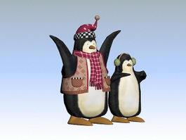 Christmas Penguins 3d preview