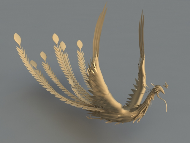 Animated Phoenix Rig 3d rendering