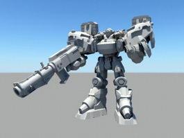 Robotech Mecha 3d model preview