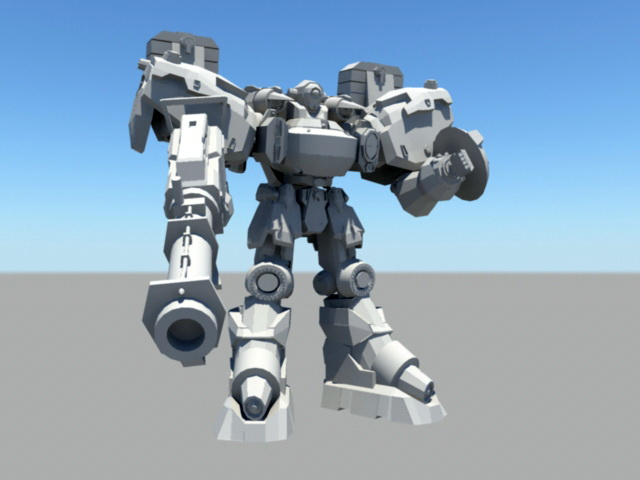 Robotech Mecha 3d rendering