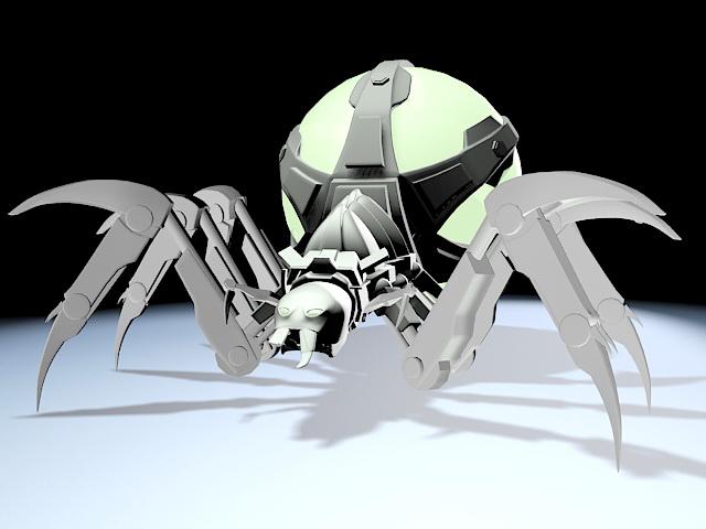 Spider-Mech 3d rendering