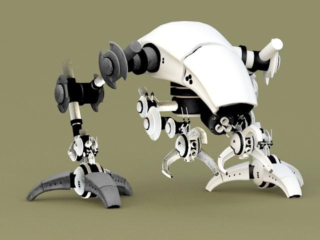 Robot Walker 3d rendering