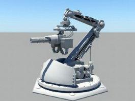 Automatic Gun Turret 3d preview