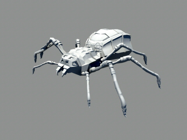 Animated Spider Bug Rig 3d rendering