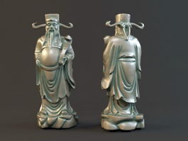 Fortune God Statue 3d preview