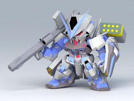 Gundam Astray Blue Frame 3d preview