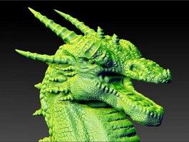 Dragon Head Sculpture 3d preview