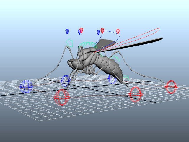 Mosquito Rig 3d rendering